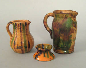 Shenandoah Valley redware pitcher 19th c