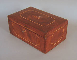 Burled walnut dresser box