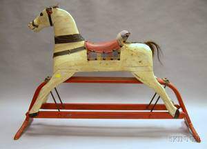 Painted Wooden Hobby Horse