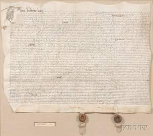 English Indenture 17th Century