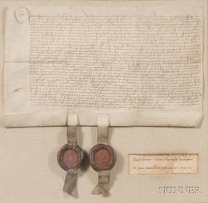 Early English Deed Reign of Henry VIII