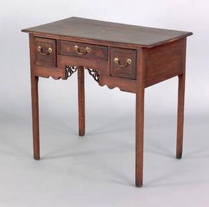 George III oak dressing table ca 1765