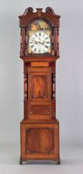 English Regency tall case clock early 19th c
