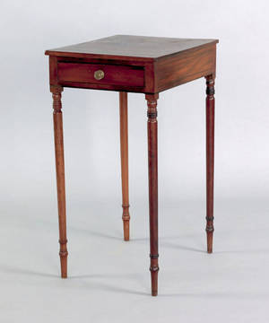 Regency mahogany one drawer stand early 19th c