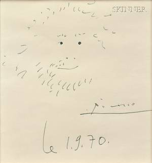 Pablo Picasso Spanish 18811973 Bearded Man Homme Barbu