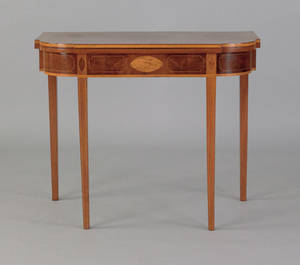 Mid Atlantic Hepplewhite mahogany card table ca 1800