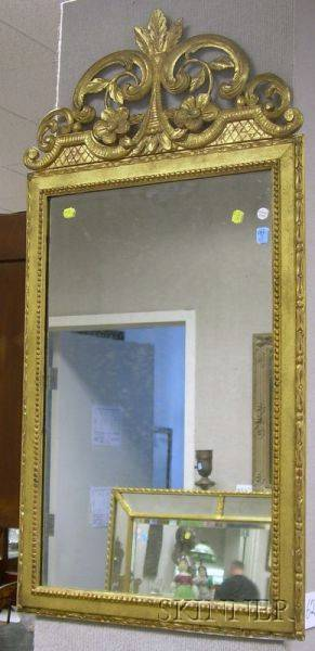 Frenchstyle Carved Giltwood Mirror