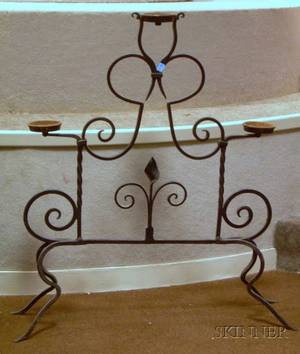 Wrought and Cast Iron Plant Stand