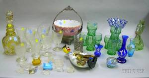 Approximately Thirtyeight Assorted Decorative Glass Table Items and Accessories