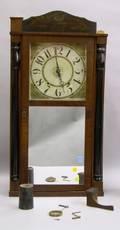 Mahogany Column and Splat Shelf Clock