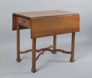 Pennsylvania Chippendale cherry Pembroke table ca 1780