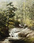 Harrison Bird Brown American 18311915 Woodland Waterfall