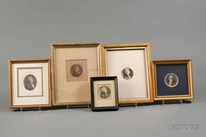 Charles Balthazar Julien Fvret de SaintMmin 17701852 Portrait Miniatures of Five Gentlemen