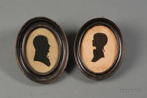 Two Silhouette Portraits