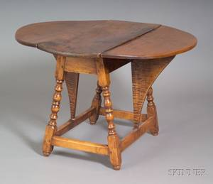 William and Mary Maple Butterfly Table
