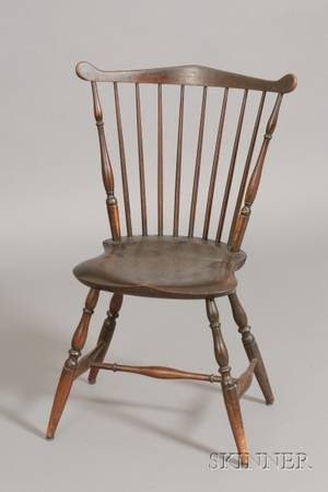 Brownpainted Windsor Fanback Chair