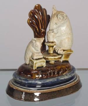 Doulton Lambeth Stoneware The Potters Group Menu Holder