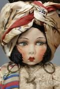 Felt LenciType Carmen Miranda Boudoir Doll