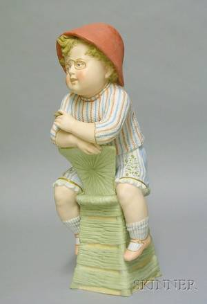 Large Heubach Figure of a Boy with Cigar