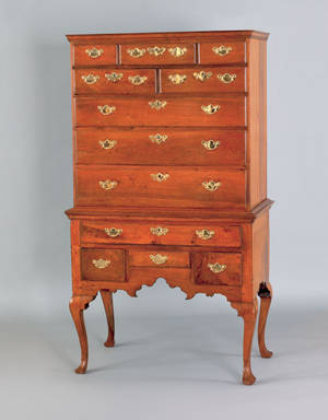 Pennsylvania Queen Anne walnut high chest ca 1765