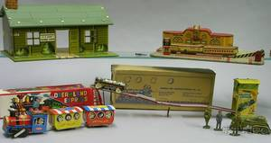 Group of Lithographed Tin Toys