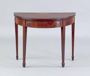 Baltimore Hepplewhite mahogany card table ca 1795