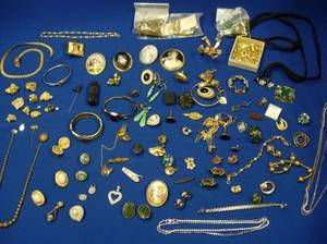 Group of Victorian Goldfilled Miscellaneous Costume and Other Jewelry