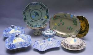 Nine Pieces of Assorted Wedgwood Decorated Ceramic Tableware