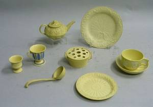 Eight Wedgwood Cane Ware Items