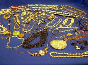 Assortment of Vintage and Later Costume Jewelry