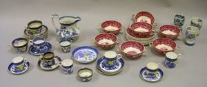 Group of Assorted English Decorated Porcelain Tableware