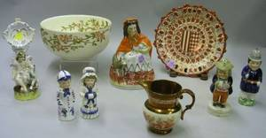Group of Assorted Decorative Ceramic Table Items
