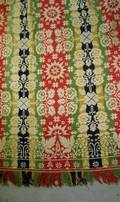 1840 FiveColor Wool and Cotton Jacquard Coverlet