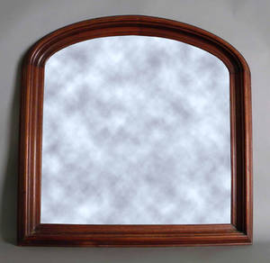 Victorian walnut overmantle mirror