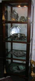 Edwardian Brassmounted Mahogany and Glass OneDoor Display Case