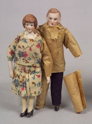 Doll House Man and Woman and Miscellaneous DollRelated Items