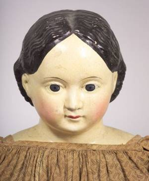 Very Large Papiermache Greiner Doll with 1858 Label