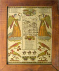 Two Pennsylvania printed and hand colored fraktur by Peters and Ritter