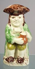 Staffordshire Creamware Toby Jug