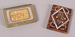 Two MotherofPearl Inlaid Ladys Articles