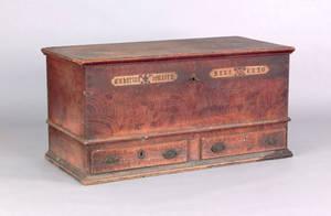 Mahantongo Valley Pennsylvania painted dower chest dated 1820
