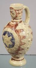 Westerwald Enamel Decorated Stoneware Krug