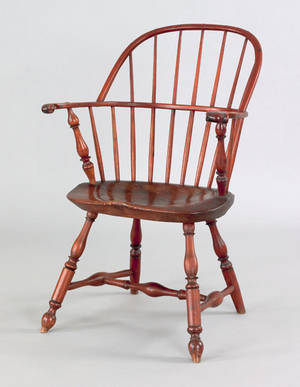 Lancaster County Pennsylvania sackback windsor armchair ca 1770