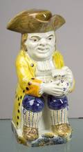 Staffordshire Pratttype Pearlware Toby Jug and Cover