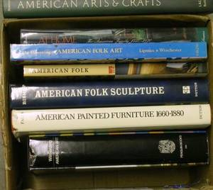 Seven Reference Books on American Furniture Folk and Decorative Arts and Culture