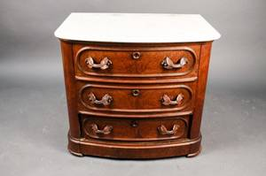 Marble Top Mahogany Bachelors Chest