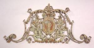 Painted Cast Iron Architectural Element of the Arms of the Commonwealth of Massachusetts
