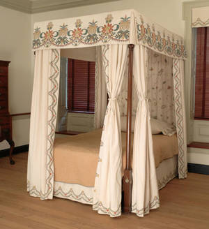 Pennsylvania Chippendale walnut tall post canopy bed late 18th c