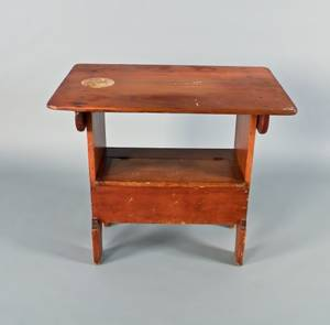 Pennsylvania pine and poplar chair table