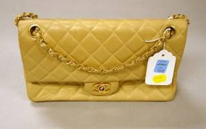 Chanel 255 Beige Leather Purse